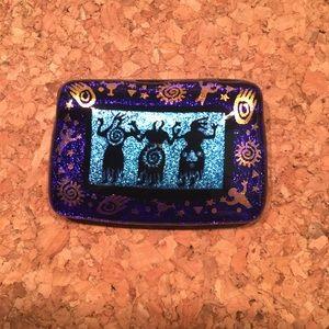 Hand-Made Purple-y Blue Dichroic Glass Pendant